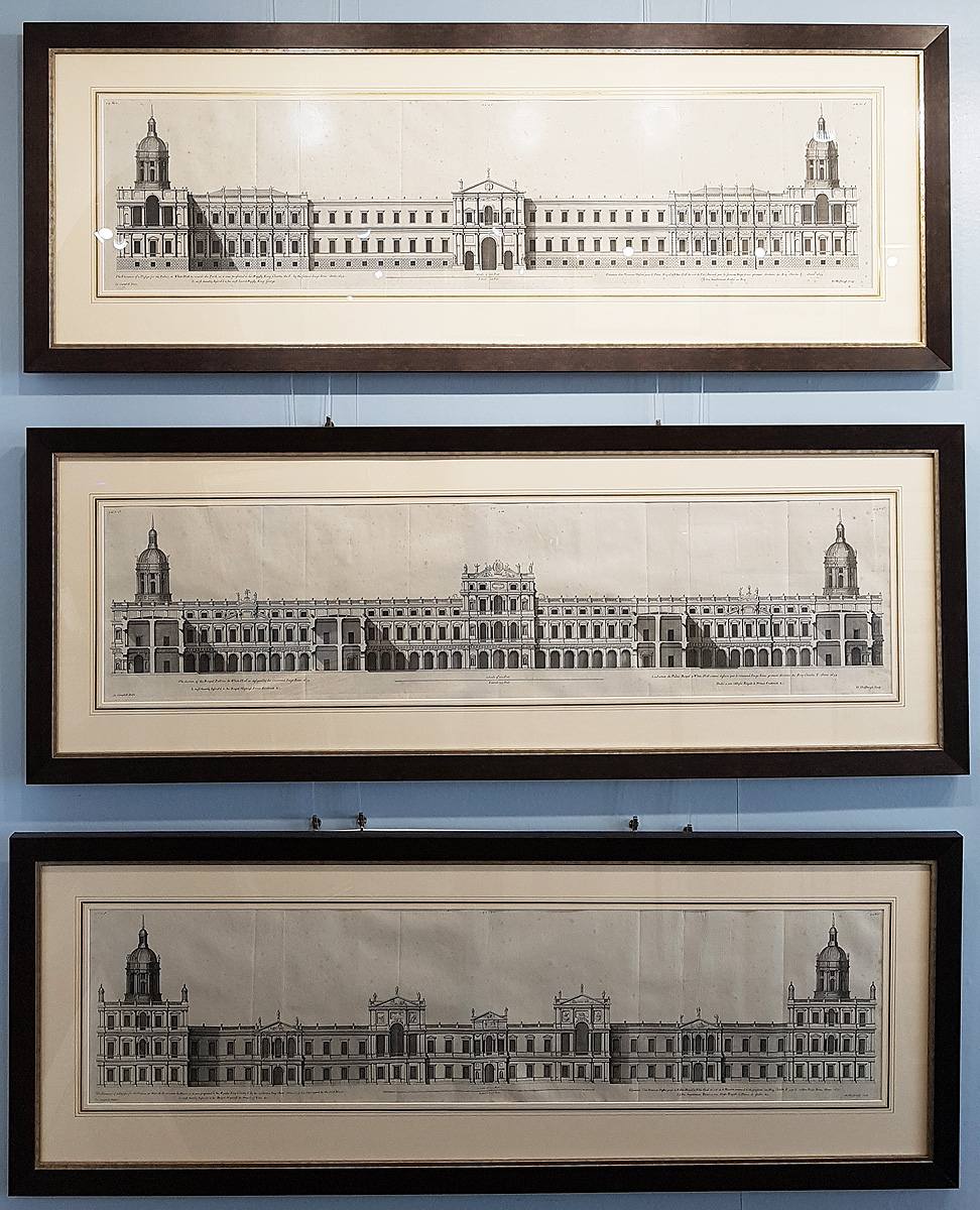 Antique engravings of the Palace of Whitehall by Inigo Jones