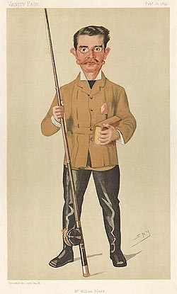 William Black Fly Fishing Caricature for sale