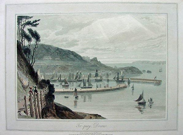 William Daniell Aquatint Torquay Devon 1825