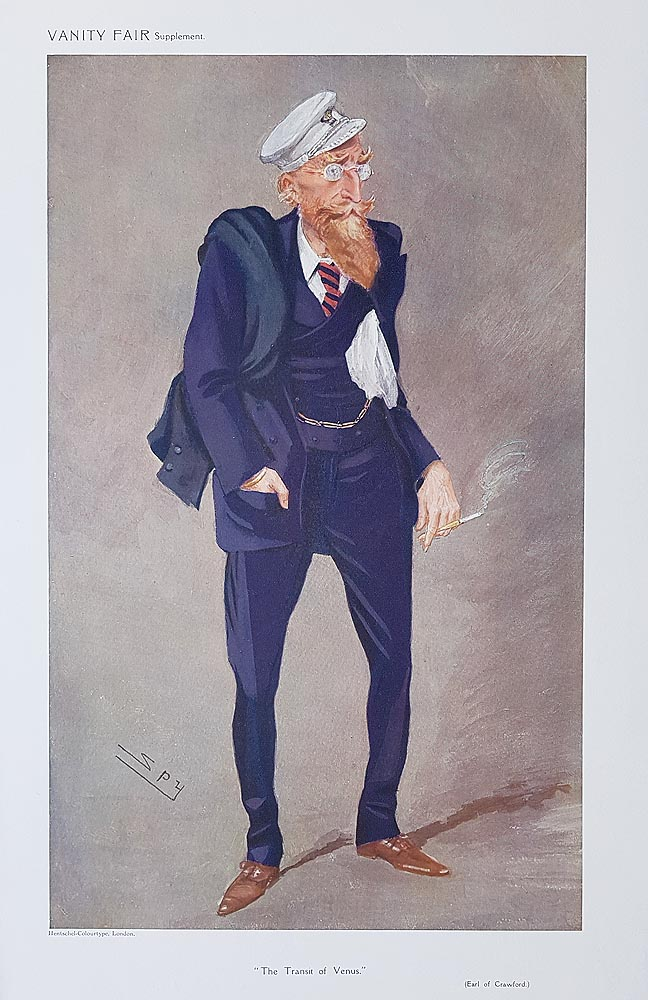Original Vanity Fair Spy Print for sale Earl of Crawford