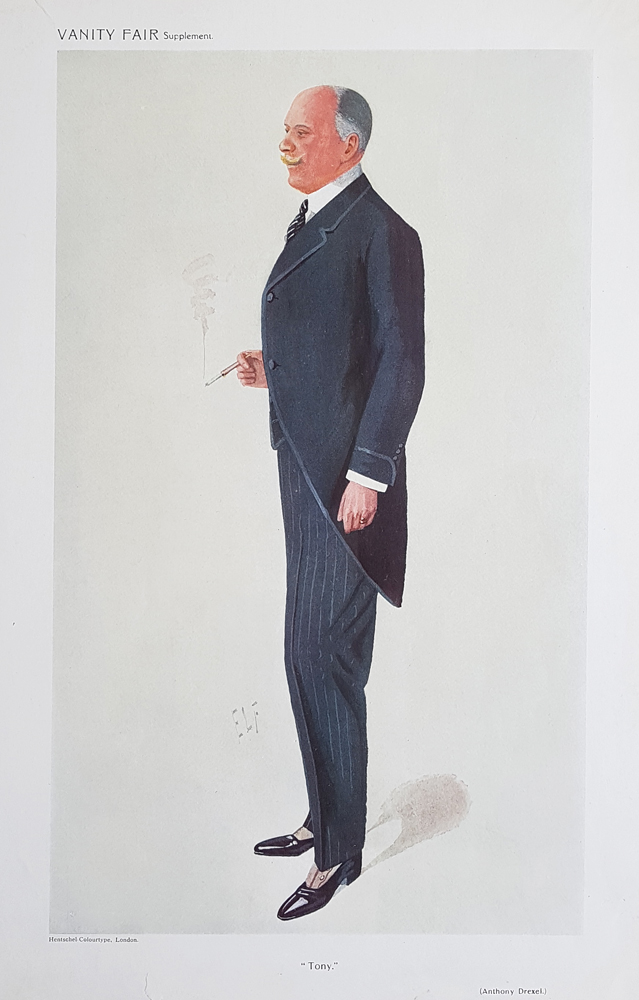 Original Vanity Fair Spy Print for sale Anthony Drexel