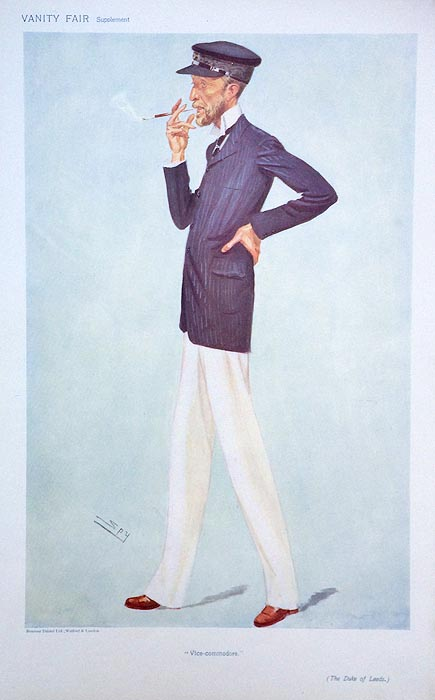Original Vanity Fair Spy Yachting Print for saleThe Duke of Leeds