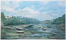 Newton Ferrers and Noss Mayo Robin Godwin print for sale